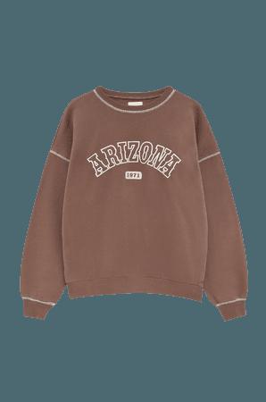 Brown Arizona sweatshirt - pull&bear