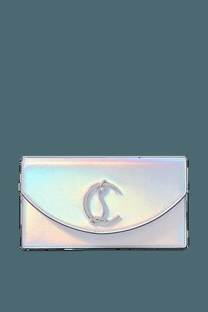 Loubi54 Iridescent Leather Clutch - Silver