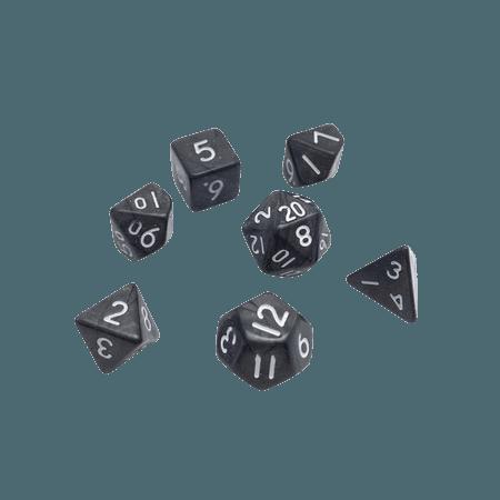 D&D dice set DnD Dice set MINI Black Pearl Dice set | Etsy