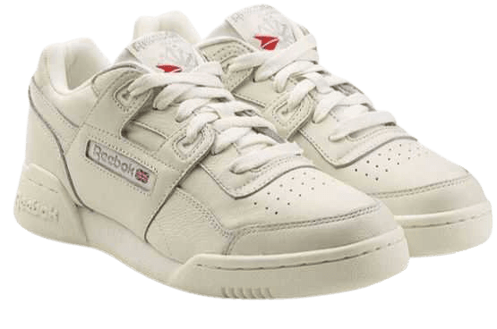 white reebok sneakers
