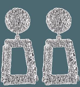 statement earrings silver - Google Search