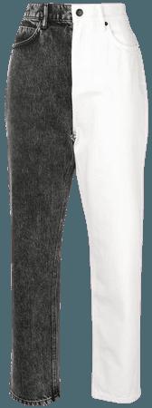Half Black Half white Jeans | Alexander Wang