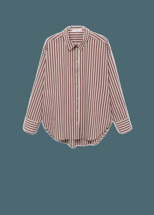 Striped cotton shirt - Women | Mango USA