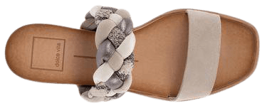 PERSEY SANDALS IN GREY MULTI SUEDE – Dolce Vita