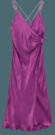 KNOTTED SLIP DRESS | ZARA United States