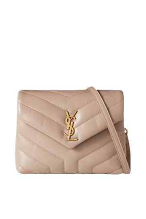 Loulou Toy Quilted Leather Shoulder Bag - Beige