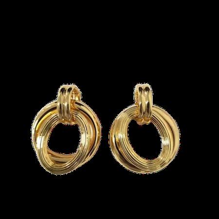 CELINE gold hoop earrings