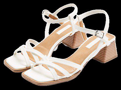 Topshop block heel sandals in white | ASOS