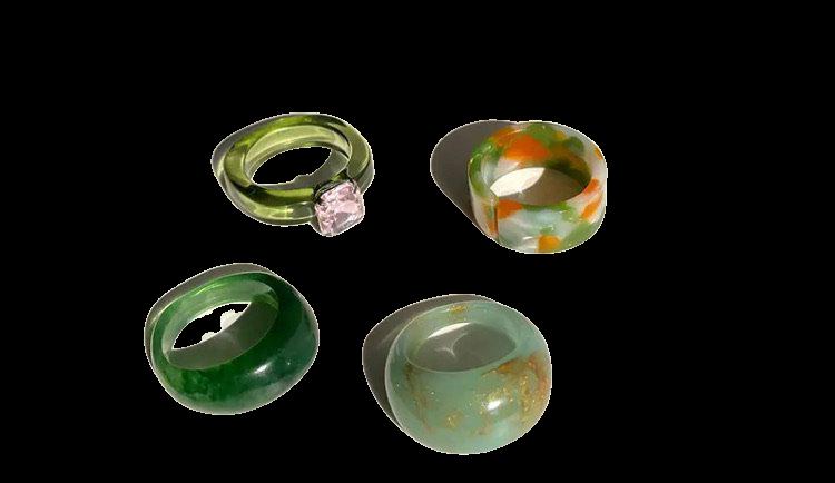 green chunky rings