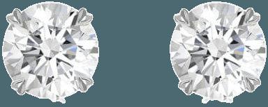 Pragnell 18kt white gold diamond Windsor stud earrings - FARFETCH