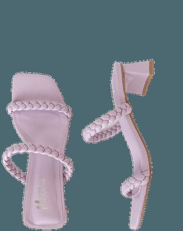 Lavender Heels - High Heel Sandals - Braided High Heels - Lulus