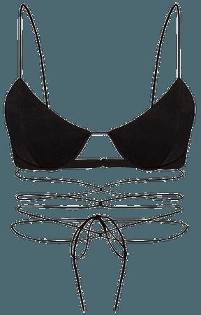 Holt Satin Crepe Wrapped Bralette Top By Alex Perry | Moda Operandi