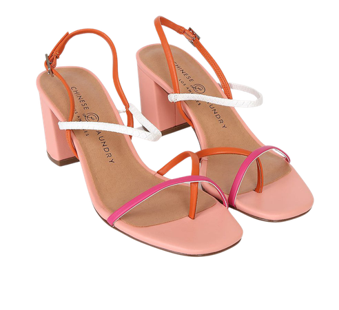 Chinese Laundry Yanna Orange and Hot Pink - Strappy Sandals - Lulus