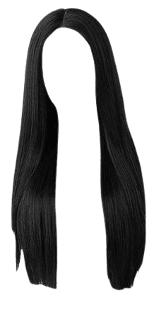 straight black hair edit png