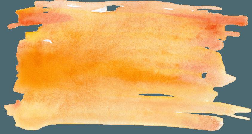 Watercolor painting TPE:2636 Orange - Orange watercolor effect png download - 2790*1469 - Free Transparent Orange png Download.