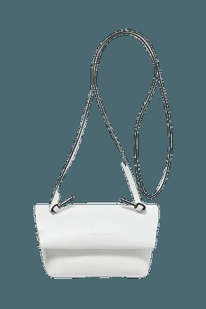 Leather Shoulder Bag - White