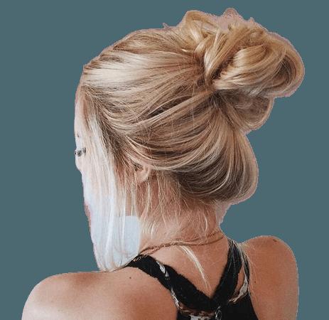 Blonde Messy Bun