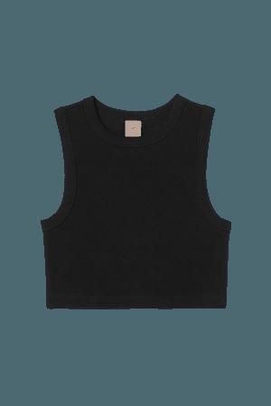Crop Tank Top - Black - Ladies | H&M US