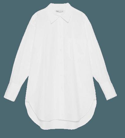zara white shirt oversized