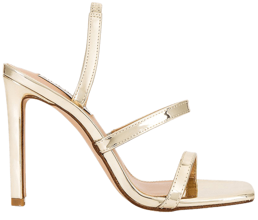 Steve Madden Gracey Sandal in Gold Mirror | REVOLVE