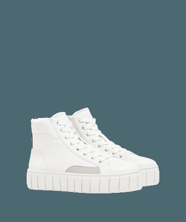 Platform high-top sneakers - SHOES - Woman | Bershka
