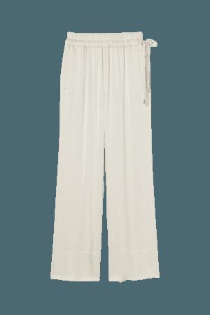 Wide-leg Pull-on Pants - Cream - Ladies | H&M US