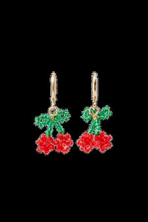Cherry hoop earrings - pull&bear