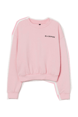 Printed Sweatshirt - Light pink/Blackpink - Ladies   H&M US