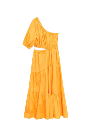 Vent cotton dress - Women | Mango USA