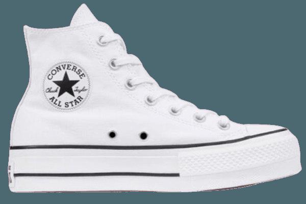 White Platform Converse Hi Tops
