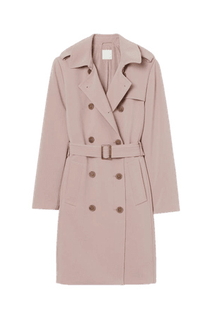 Trenchcoat - Pale pink - Ladies | H&M US