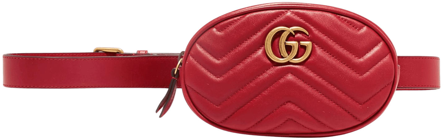Red GG Marmont quilted leather belt bag   Gucci   NET-A-PORTER