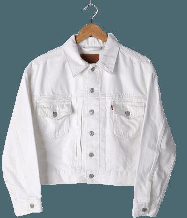 Levi's New Heritage - White Denim Jacket - Trucker Jacket - Lulus