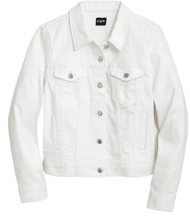 J.Crew Factory: Classic Jean Jacket In White Wash For Women