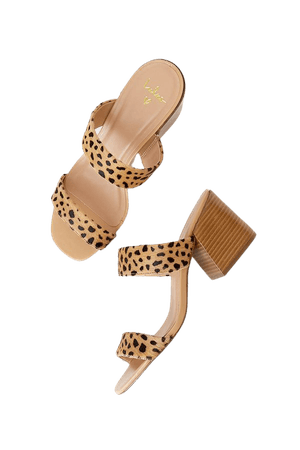 Cheetah Sandals - Genuine Leather Sandals - High Heel Sandals - Lulus