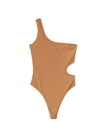 Asymmetric bodysuit with cut-out detail - Tees and tops - Woman | Bershka