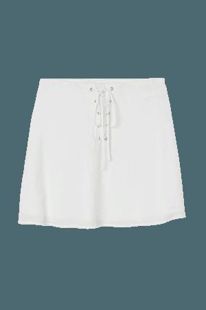 Crêped Skirt - White - Ladies | H&M US