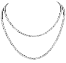 double tennis necklace - Google Search