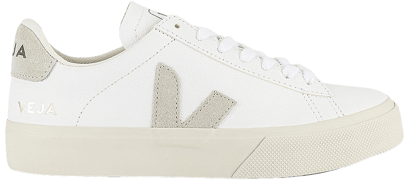 Veja Campo Sneaker in Extra White & Natural Suede | REVOLVE