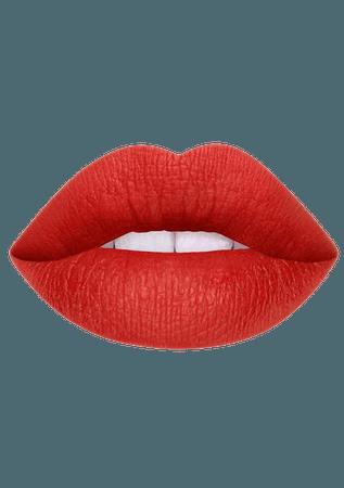 red lip stick lime crime