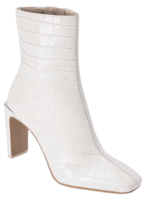 KELSIE BOOTIES IN IVORY CROCO PRINT LEATHER – Dolce Vita