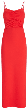 Ruched Bodice Maxi Dress | Express