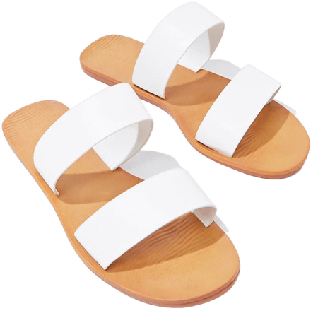 Faux Leather Dual-Strap Sandals | Forever 21
