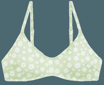 Padded bikini top - Daisy print - Bikinis - Monki WW