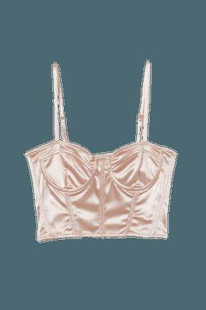 Bustier - Powder pink - Ladies   H&M US