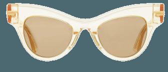 Cat-Eye Clear Acetate Sunglasses By Bottega Veneta   Moda Operandi