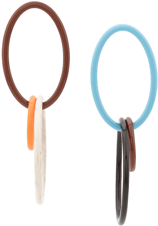Blue & white Cult Gaia triple hoop earrings 30029AC - Farfetch