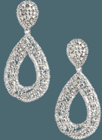 No Tears Here Earrings - Silver