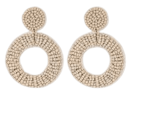 Open Circle Seed Bead Drop Earrings - A New Day™ : Target