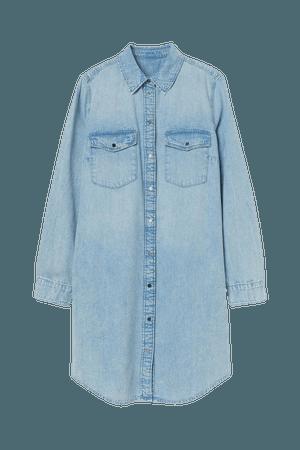 Shirt Dress - Light denim blue - Ladies | H&M US